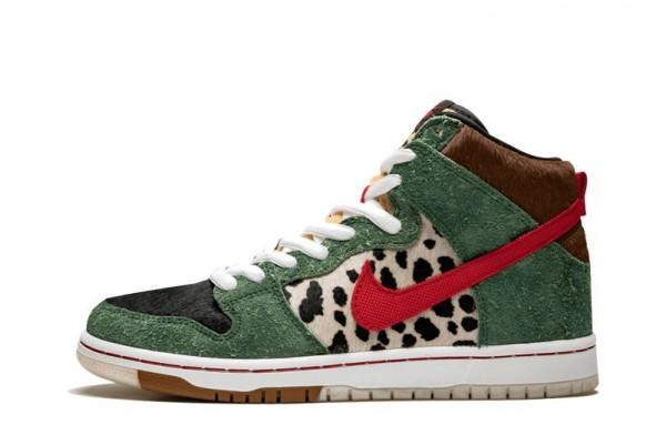 "Chaussure Nike SB Dunk High ""Chien Marcheur"" BQ6827-300 Pas Cher ..."